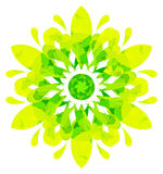 Watercolour pattern - Yellow-green abstract flower Royalty Free Stock Photography