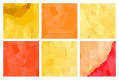 Watercolour pattern - Yellow-red patterns Royalty Free Stock Photo