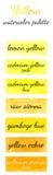Watercolour pattern - Yellow watercolors Stock Photos