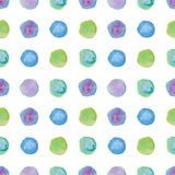 Watercolour polka dot seamless pattern. Stock Photography