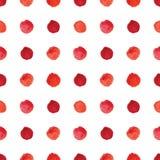 Watercolour polka dot seamless pattern. Stock Photos