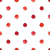 Watercolour polka dot seamless pattern. Royalty Free Stock Photo