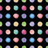 Watercolour polka dot seamless pattern. Royalty Free Stock Photography