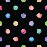 Watercolour polka dot seamless pattern. Royalty Free Stock Images