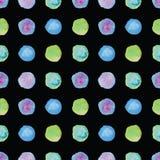 Watercolour polka dot seamless pattern. Royalty Free Stock Photos