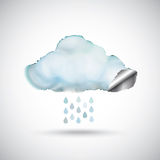 Watercolour rain cloud Stock Photography