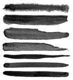 watercolour Reeks abstracte zwarte achtergronden van de waterverfslag Royalty-vrije Stock Foto's