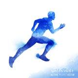 Watercolour Running Man Vector Royalty Free Stock Photo