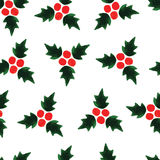 Watercolour seamless pattern background for Christmas Stock Photography