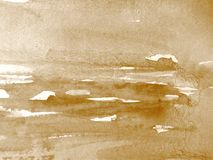 Watercolour in Sepia 2 Royalty Free Stock Image