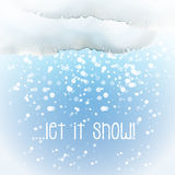 Watercolour snow cloud Royalty Free Stock Images