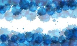 Watercolour splash background. A watercolours splash background with varietes of blue Royalty Free Illustration