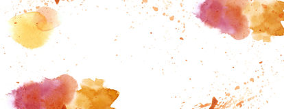Watercolour with splash spot background white copy space Stock Image
