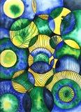 Watercolour tapety abstrakt obraz royalty free