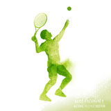Watercolour Tennis Player Vector Royalty Free Stock Image