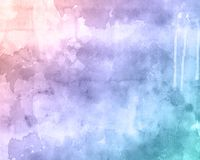 Watercolour texture background. Detailed watercolour texture background with drips and stains stock illustration
