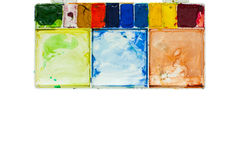Watercolour tray. On white background isolated Royalty Free Stock Images