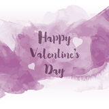 Watercolour Valentine's Day background Stock Images