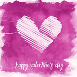 Watercolour Valentine's Day background Stock Photos