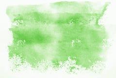 Watercolour verde Immagini Stock