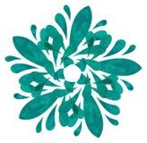 Watercolour wzór - Abstrakcjonistyczny kwiat zdjęcia royalty free
