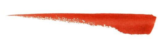 Watercolourbürstenanschlag Stockbild