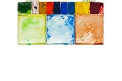 Watercolourdienblad Royalty-vrije Stock Afbeeldingen