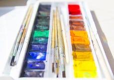 Watercolourfarben Stockbilder