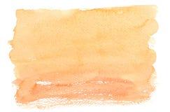 Watercolourfeld über Weiß Lizenzfreies Stockfoto
