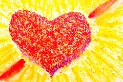 Watercolourhart in rood als symbool voor liefde Royalty-vrije Stock Foto's