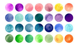 Watercolourkreisbeschaffenheiten Mega-nützlicher Satz für Stockfotografie