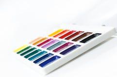 Watercolourlacke auf einem weißen Hintergrund Lizenzfreies Stockbild