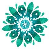 Watercolourpatroon - Abstracte bloem Stock Foto
