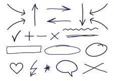 watercolours бумаги руки притяжки Стоковая Фотография RF