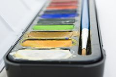 Watercolours Close-up Stock Image