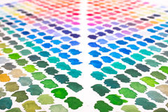 Watercolours colour palette in green, blue, violet and red Royalty Free Stock Photos