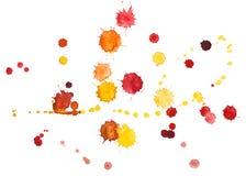 Watercolourvlekken stock illustratie