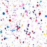 Watercolourvlekken in naadloos patroon worden geleid dat Stock Foto's