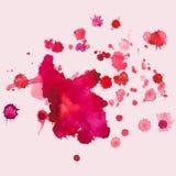 Watercolourvlekken, plons, vectorillustratie vector illustratie