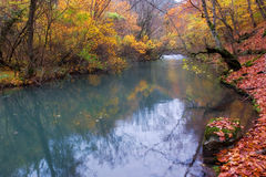 Watercourse in the Chernorechensky canyon Stock Images