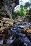 Watercourse in forest, Thailand. Royalty Free Stock Photography