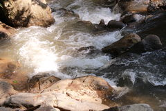 Watercourse. Water form mountain is water rapids Royalty Free Stock Image