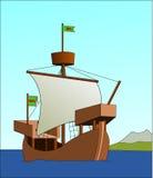 Watercraft, Caravel, Sailing Ship, Cartoon Royalty Free Stock Images