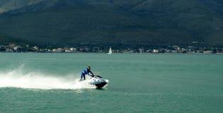 Watercraft police. Italian Police watercraft at high speed, Gaeta (Italy Stock Photography