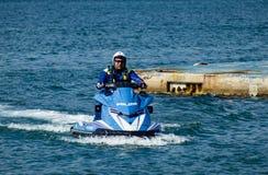 Watercraft polizia. Italian Police watercraft in Gaeta Italy Royalty Free Stock Photo