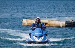 Watercraft polizia. Italian Police watercraft in Gaeta Italy Royalty Free Stock Photos