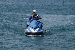 Watercraft polizia. Italian Police watercraft in Gaeta Italy Stock Images