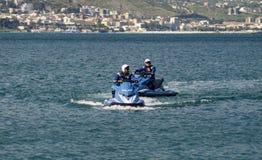 Watercraft polizia. Two Italian Police watercraft in Gaeta Italy Royalty Free Stock Images