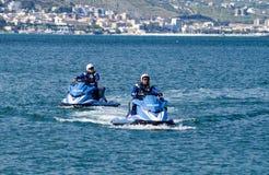 Watercraft polizia. Two Italian Police watercraft in Gaeta Italy Royalty Free Stock Photography