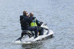 Watercraft sueco de la policía Imagenes de archivo